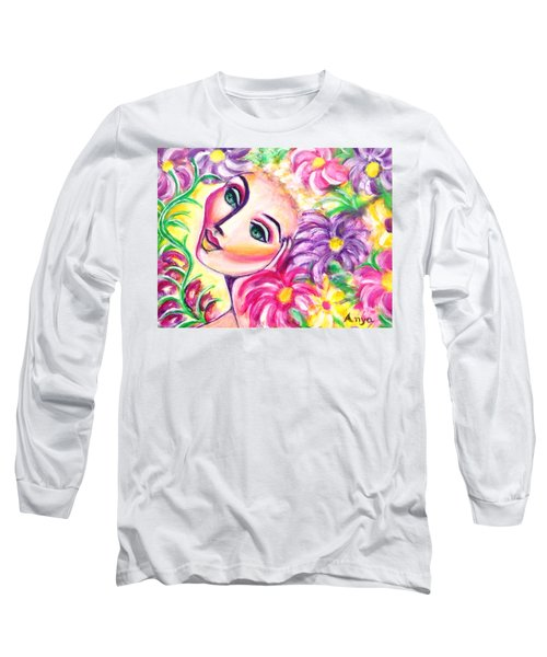 Pondering In A Garden Long Sleeve T-Shirt