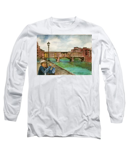 Ponte Vecchio Florence Italy Long Sleeve T-Shirt