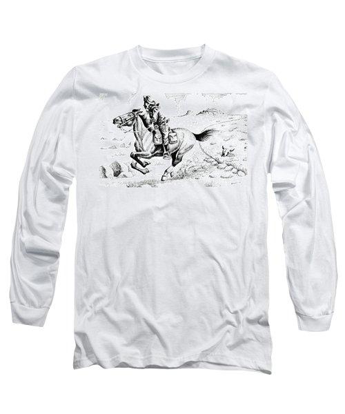Pony Express Rider Long Sleeve T-Shirt