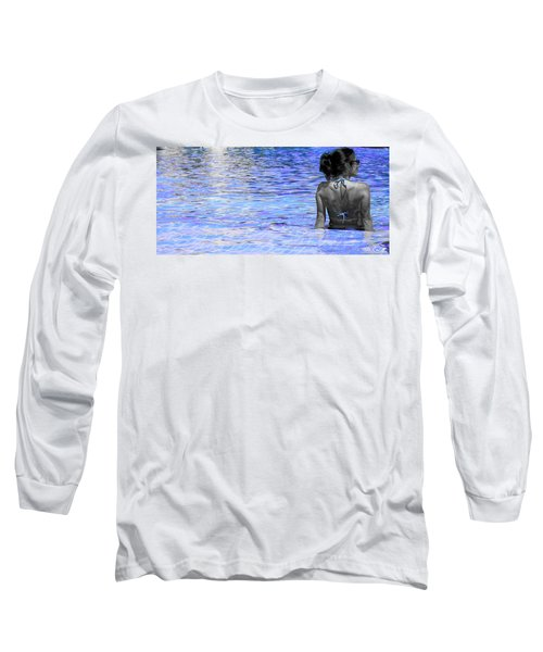 Long Sleeve T-Shirt featuring the photograph Pool by J Anthony