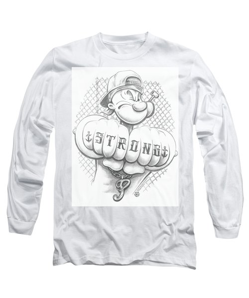 Popeye - Strong Long Sleeve T-Shirt by Brand A