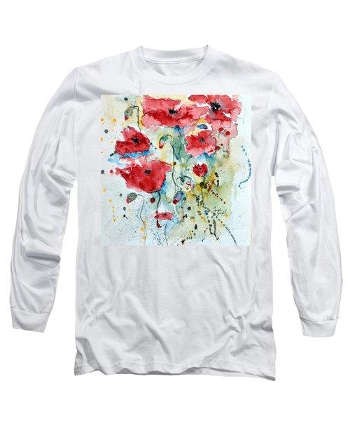Poppies 04 Long Sleeve T-Shirt