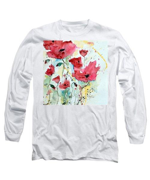 Poppies 05 Long Sleeve T-Shirt