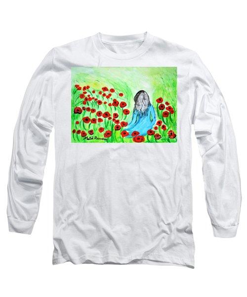 Poppies Field Illusion Long Sleeve T-Shirt