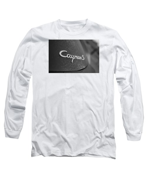 Long Sleeve T-Shirt featuring the photograph Standing Porsche Cayman S by Miguel Winterpacht