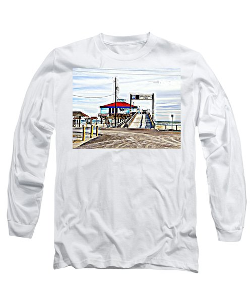 Long Sleeve T-Shirt featuring the photograph Port Aransas Gulf Side by Antonia Citrino
