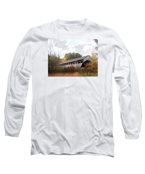 Porter Covered Bridge Long Sleeve T-Shirt by Catherine Gagne