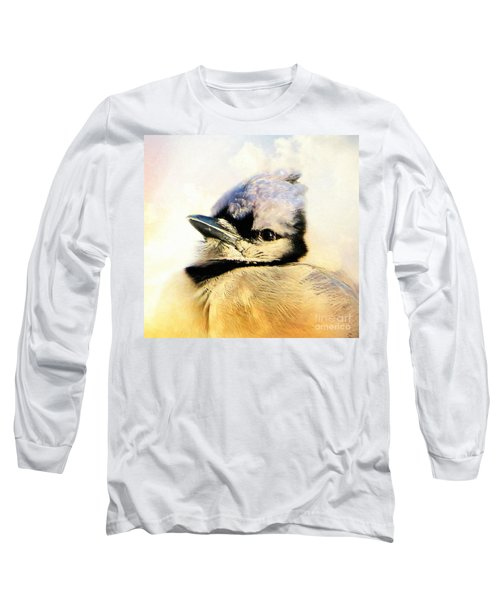 Portrait Of A Blue Jay Long Sleeve T-Shirt