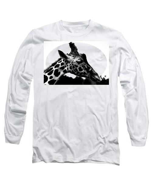 Portrait Of A Giraffe Long Sleeve T-Shirt