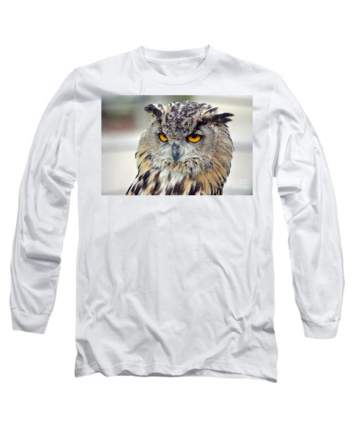 Long Sleeve T-Shirt featuring the photograph Portrait Of A Great Horned Owl II by Jim Fitzpatrick