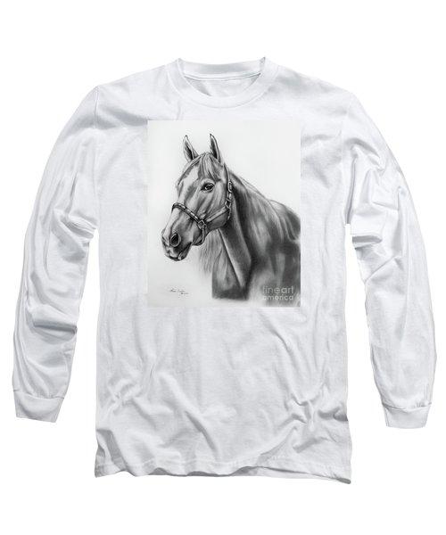 Portrait Of A Horse Long Sleeve T-Shirt by Lena Auxier