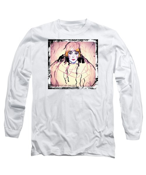 Portrait Of A Lady En Face After Gustav Klimt Long Sleeve T-Shirt