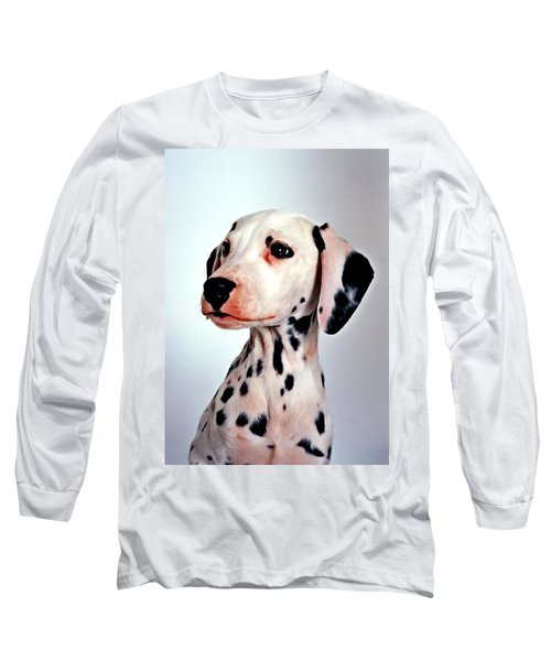 Portrait Of Dalmatian Dog Long Sleeve T-Shirt