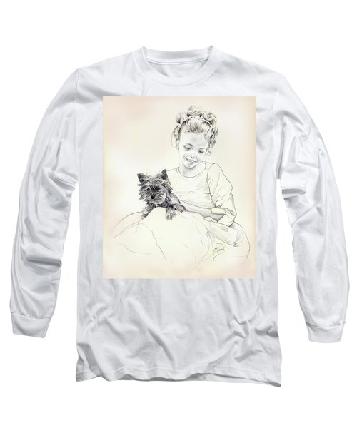 Portrait Of Sylwia Long Sleeve T-Shirt