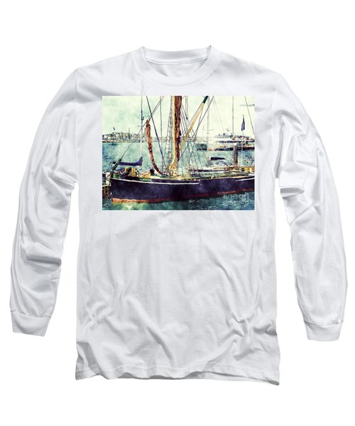 Portsmouth Harbour Boats Long Sleeve T-Shirt