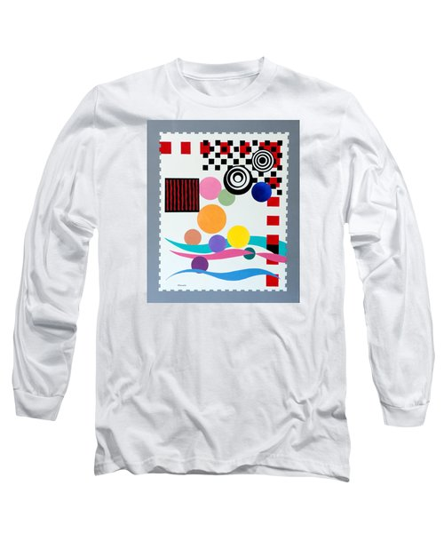 Long Sleeve T-Shirt featuring the painting Postage Paid by Thomas Gronowski