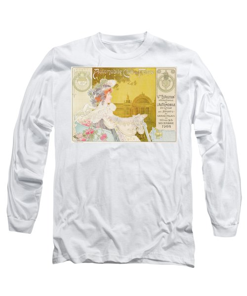 Poster Advertising The Sixth Exhibition Of The Automobile Club De France Long Sleeve T-Shirt