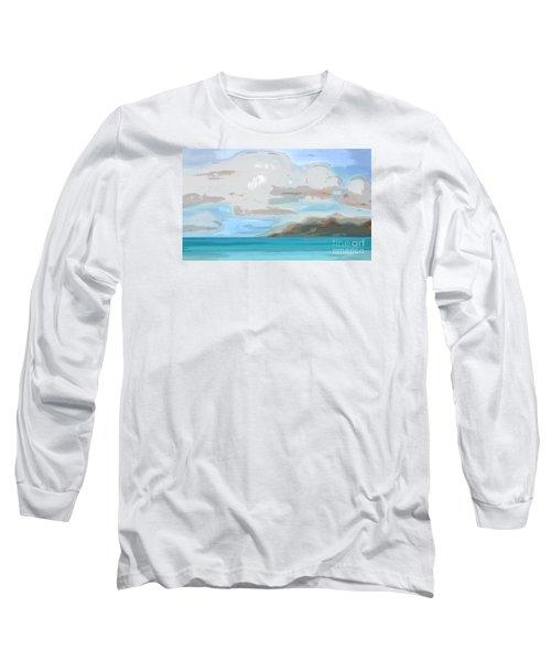 Posterized Landscape Alaska  Long Sleeve T-Shirt