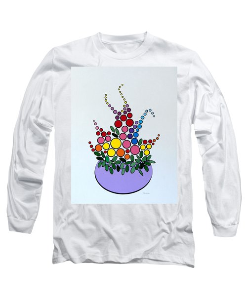 Potted Blooms - Lavendar Long Sleeve T-Shirt
