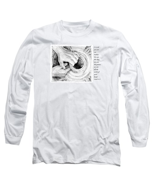 Long Sleeve T-Shirt featuring the drawing Potter And Clay by Janet King