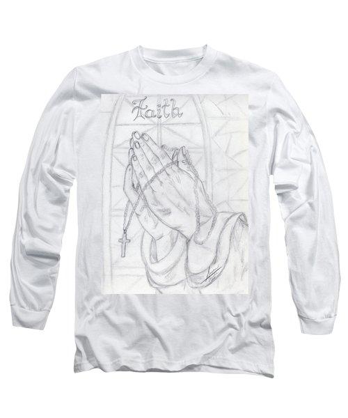 Praying Hands Long Sleeve T-Shirt
