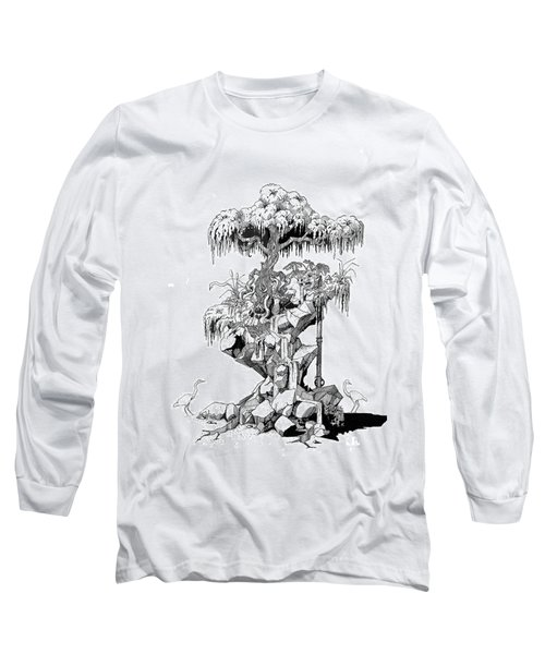 Ptactvo Long Sleeve T-Shirt by Julio Lopez