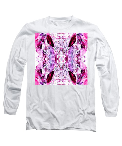 Pretty Pink Weeds Abstract  2 Long Sleeve T-Shirt