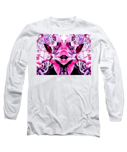 Pretty Pink Weeds Abstract  5 Long Sleeve T-Shirt