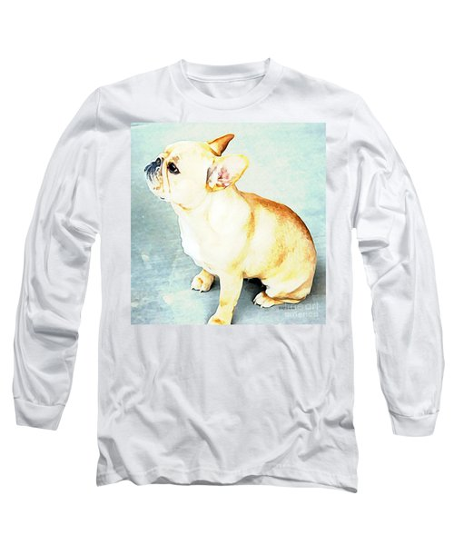 Long Sleeve T-Shirt featuring the painting Profile In Frenchie by Barbara Chichester