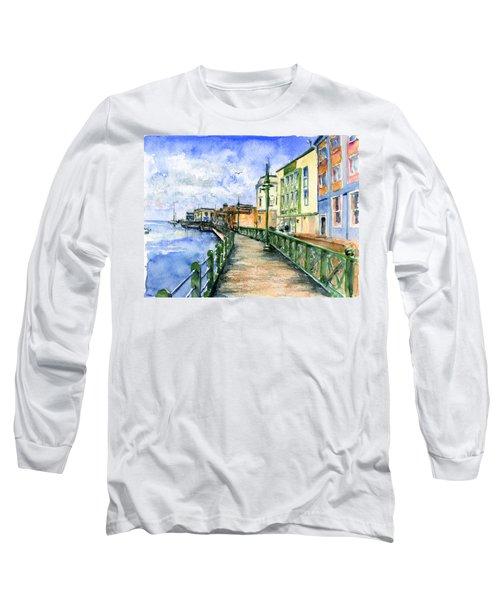 Promenade In Barbados Long Sleeve T-Shirt by John D Benson