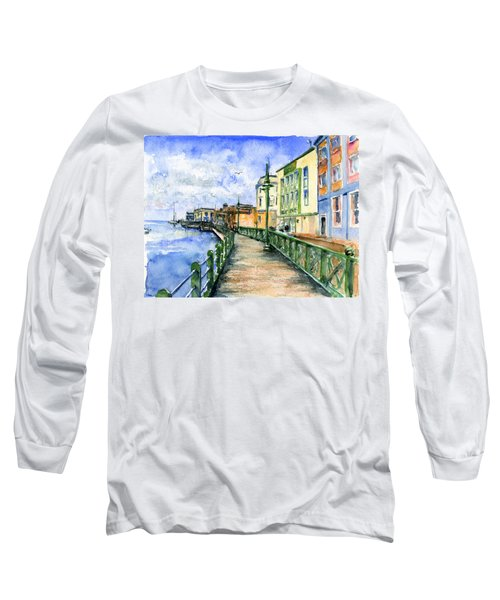 Promenade In Barbados Long Sleeve T-Shirt