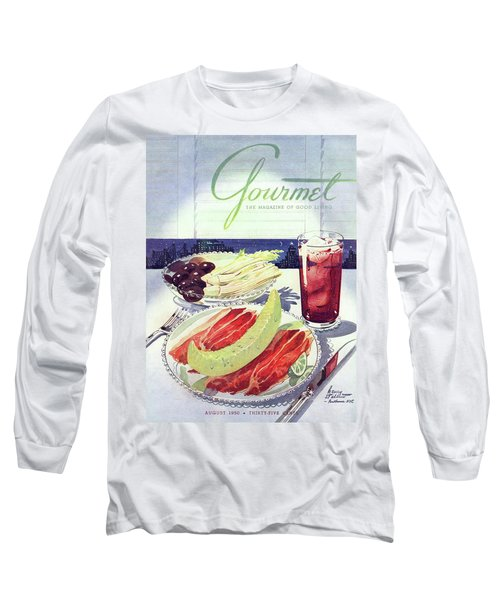 Prosciutto, Melon, Olives, Celery And A Glass Long Sleeve T-Shirt