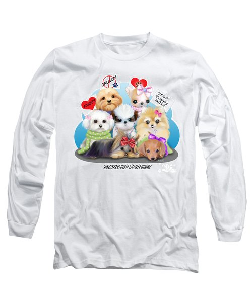 Puppies Manifesto Long Sleeve T-Shirt by Catia Cho