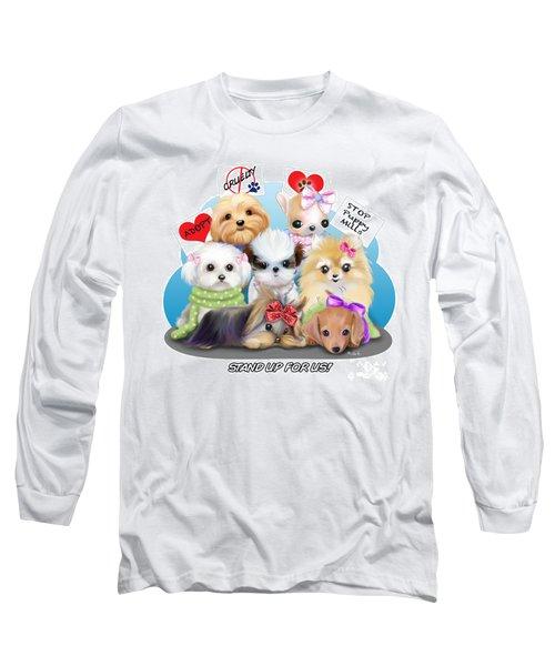 Puppies Manifesto Long Sleeve T-Shirt