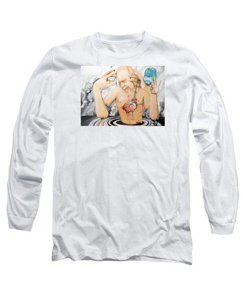 Purge Long Sleeve T-Shirt by Lazaro Hurtado