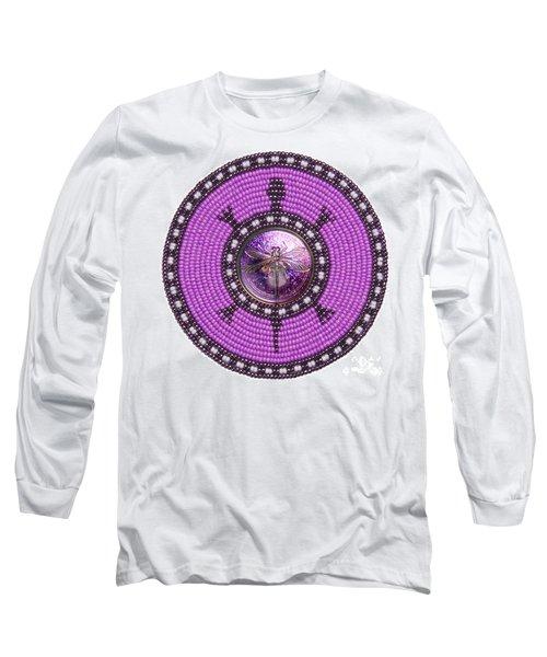 Purple Dragonfly Long Sleeve T-Shirt