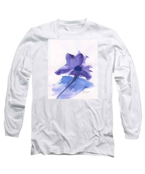Long Sleeve T-Shirt featuring the painting Purple Flower by Frank Bright