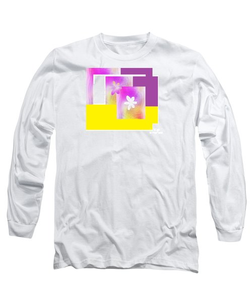 Purple Glow Flower Long Sleeve T-Shirt