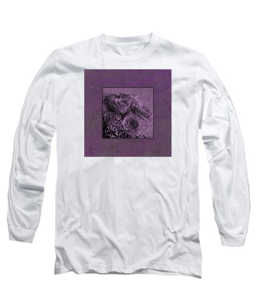 Long Sleeve T-Shirt featuring the photograph Purple Roses Delight by Sandra Foster