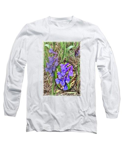 Purple Wildflowers Long Sleeve T-Shirt