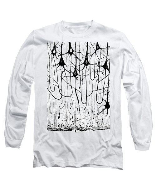 Pyramidal Cells Illustrated By Cajal Long Sleeve T-Shirt