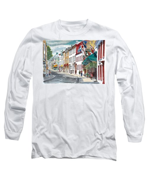 Quebec Old City Canada Long Sleeve T-Shirt