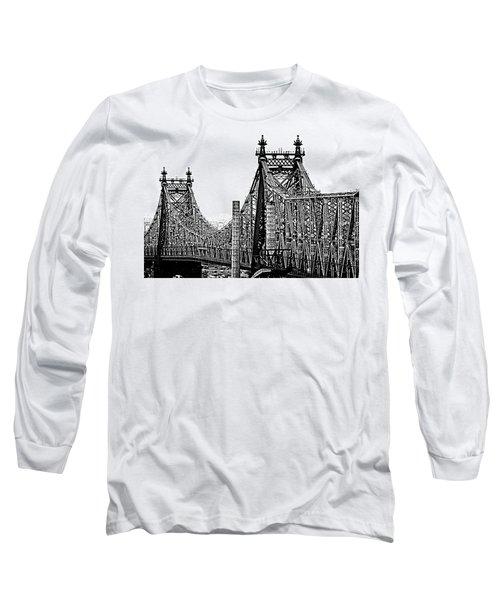 Queensborough Or 59th Street Bridge Long Sleeve T-Shirt by Steve Archbold