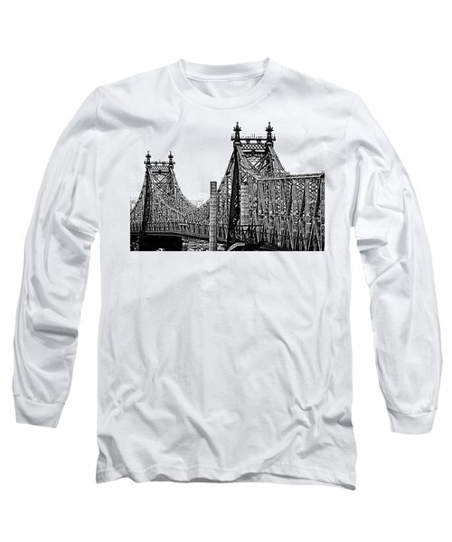Queensborough Or 59th Street Bridge Long Sleeve T-Shirt