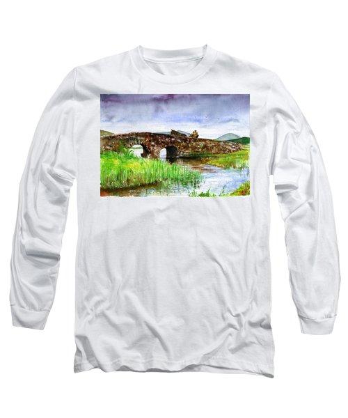 Quiet Man Bridge Ireland Long Sleeve T-Shirt by John D Benson