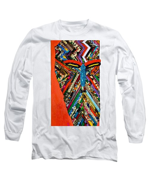 Quilted Warrior Long Sleeve T-Shirt by Apanaki Temitayo M