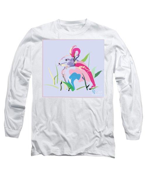 Rabbit - Bunny In Color Long Sleeve T-Shirt by Go Van Kampen