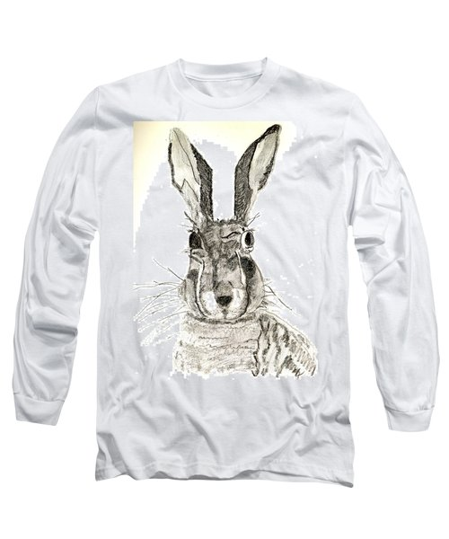 Rabbit Long Sleeve T-Shirt by Sandy McIntire