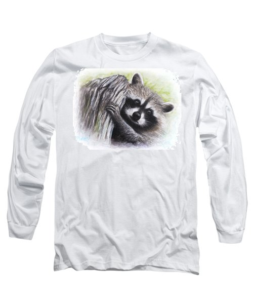 Raccoon  Long Sleeve T-Shirt by Patricia Lintner