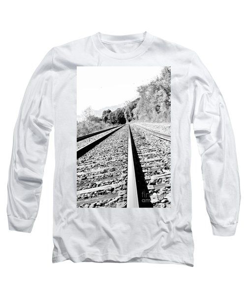 Long Sleeve T-Shirt featuring the photograph Railroad Track by Joe  Ng